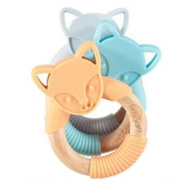 Nibbling Forest Friends Flex Fox Teether Blue