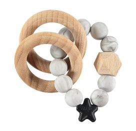 Nibbling Rattle Teething Ring Stellar Marble