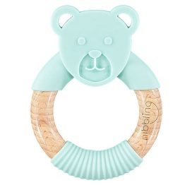 Nibbling Forest Friends Ted Bear Teether Mint