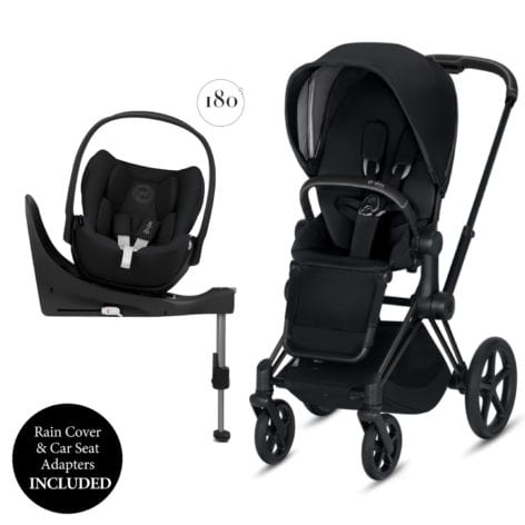 Cybex Priam + Cloud Z Travel System Matt Black/Premium Black