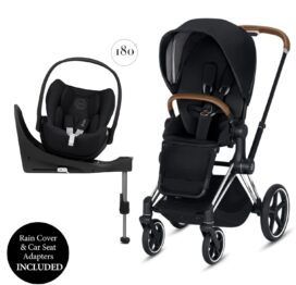 Cybex Priam + Cloud Z Travel System Chrome-Brown/Premium Black