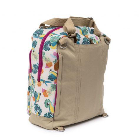 Pink Lining Wonder Bag Backpack Parrot Cream