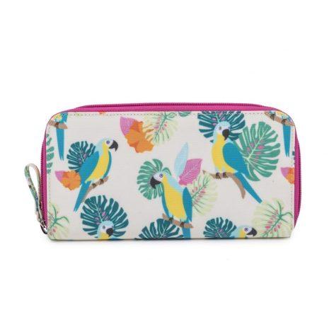 Pink Lining Wallet Parrot Cream