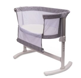 "PurFlo Purair ""Keep Me Close"" Breathable Bedside Crib Marl Grey"