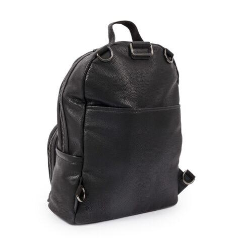 Pink Lining Shoreditch Vegan Leather Backpack Black