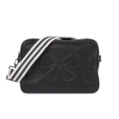 Pink Lining Hoxton Vegan Leather Cross Body Bag Black