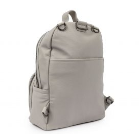Pink Lining Shoreditch Vegan Leather Backpack Grey