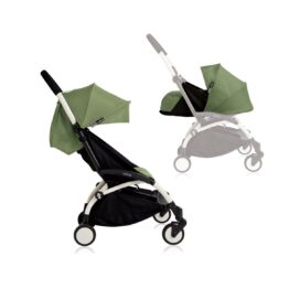 Babyzen YOYO+ Stroller from Newborn White Peppermint