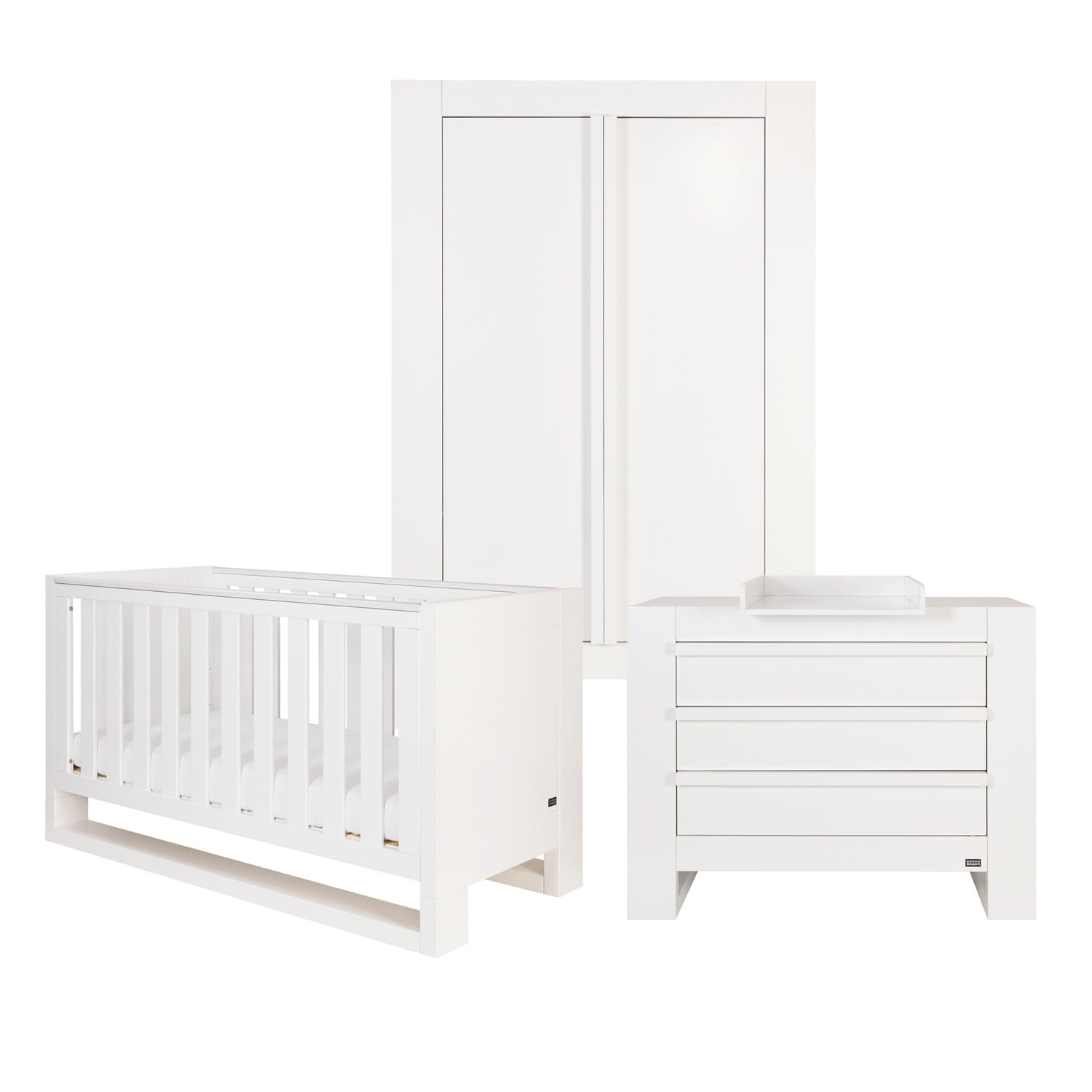 Tutti Bambini Rimini 3 Piece Room Set - High Gloss White