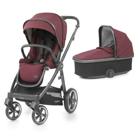 Oyster 3 Stroller plus Carrycot Berry