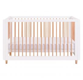 Tutti Bambini Siena 3 in 1 Cot Bed - White & Beech