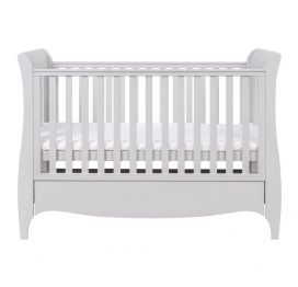 Tutti Bambini Roma Sleigh Cot Bed with Under Bed Drawer - Dove Grey