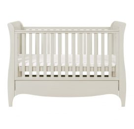Tutti Bambini Roma Sleigh Cot Bed with Under Bed Drawer - Linen