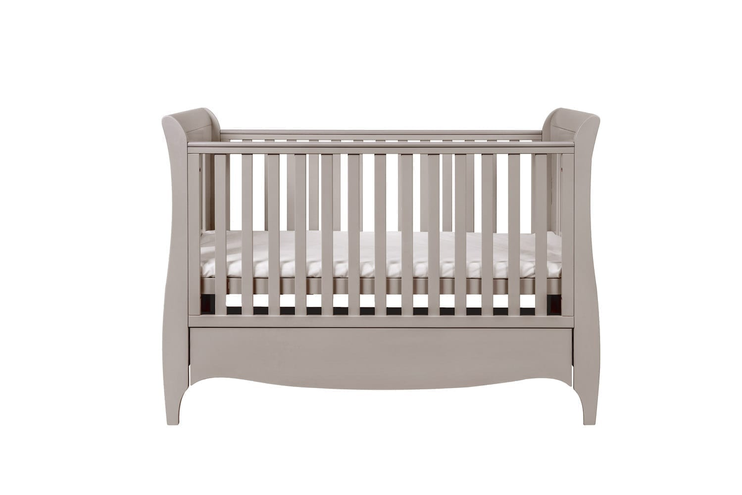 Tutti Bambini Roma Sleigh Cot Bed with Under Bed Drawer - Truffle Grey