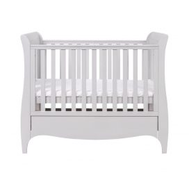 Tutti Bambini Roma Space Saver Sleigh Cot Bed with Under Bed Drawer - Dove Grey