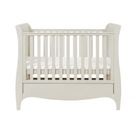 Tutti Bambini Roma Space Saver Sleigh Cot Bed with Under Bed Drawer - Linen