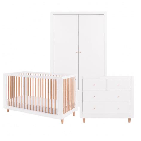 Tutti Bambini Siena 3 Piece Room Set - White & Beech