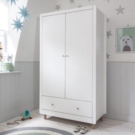 Tutti Bambini Siena Wardrobe - White & Beech