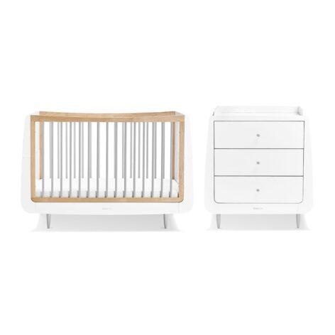 SnuzKot Skandi 2 Piece Nursery Furniture Set Grey