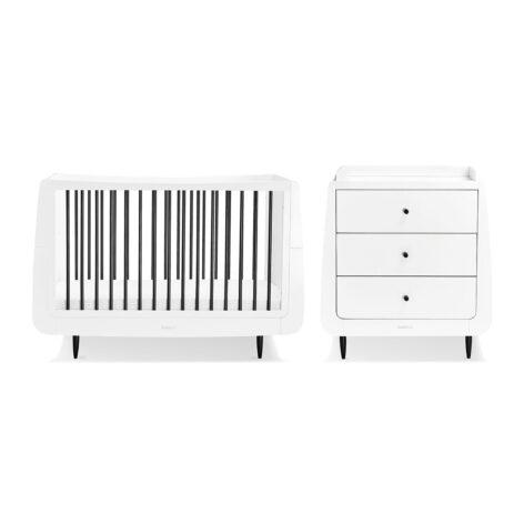 SnuzKot Skandi 2 Piece Nursery Furniture Set Mono