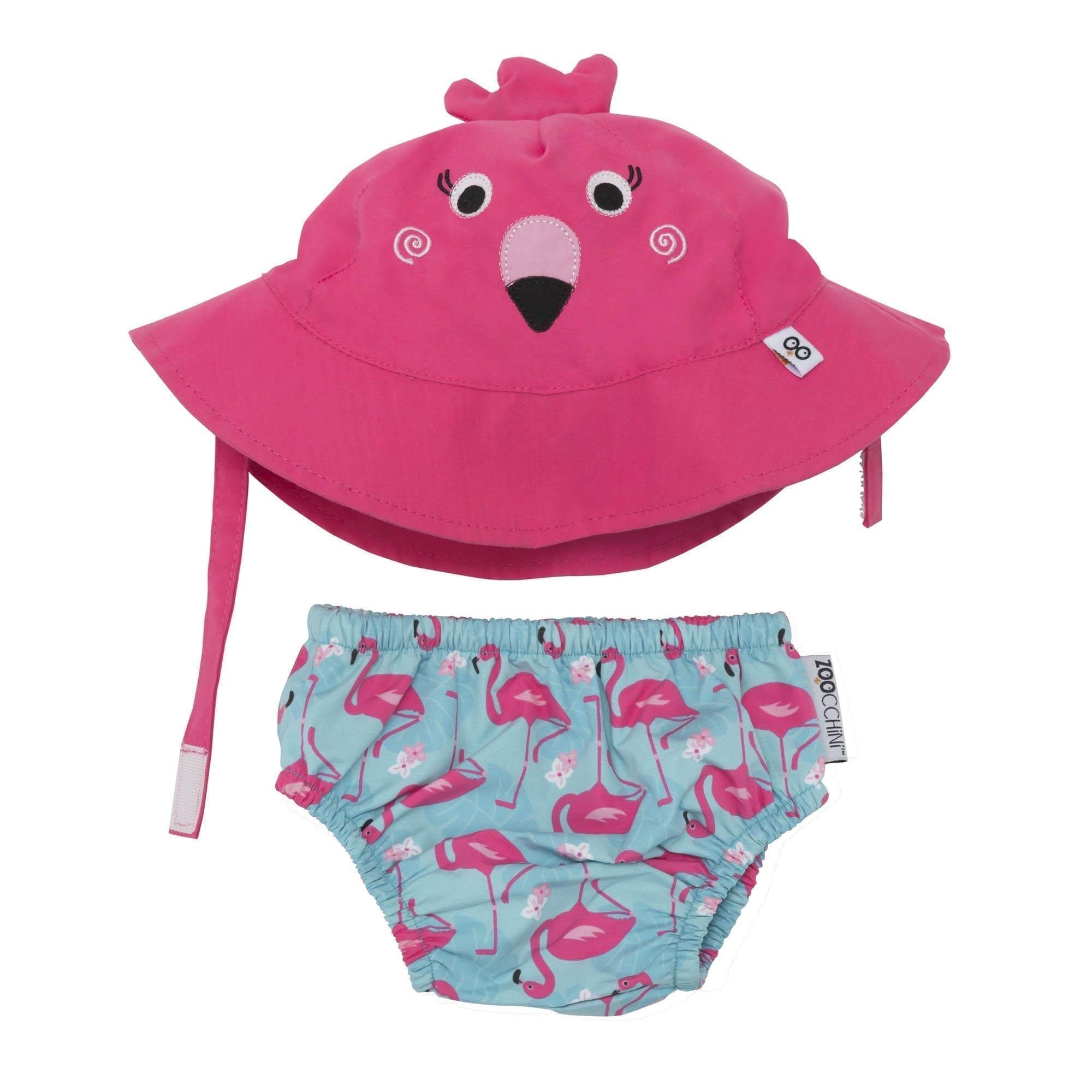 Zoocchini Swim Set Flamingo