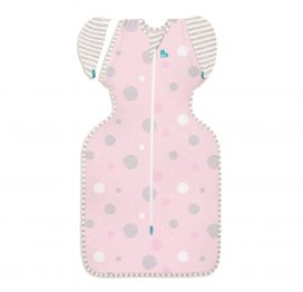 Love to Dream Swaddle Up Lite 50/50 Pink Circles