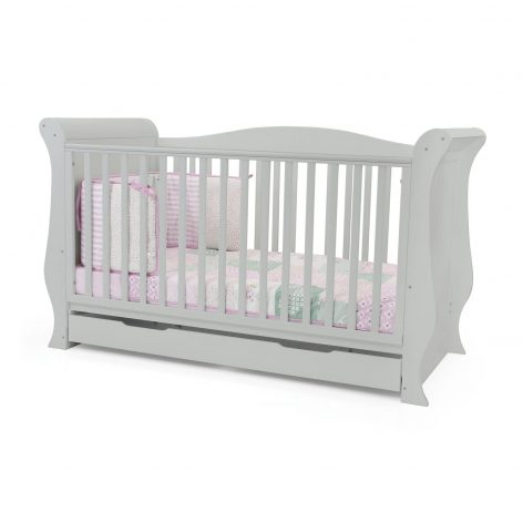 Hollie Sleigh Cot Bed Grey