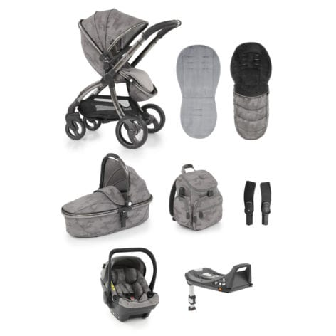 egg Stroller SHELL 8-piece Bundle Camo Grey