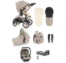 egg Stroller SHELL 8-piece Bundle with Backpack Camo Sand