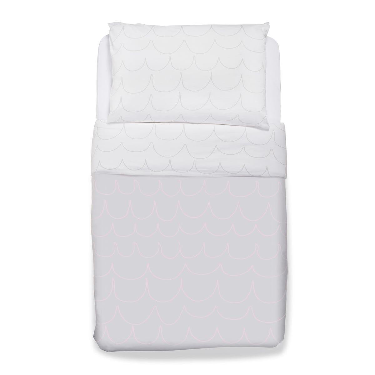 Snuz Cot Duvet and Pillow Case Set (100x120cm) - Wave Rose
