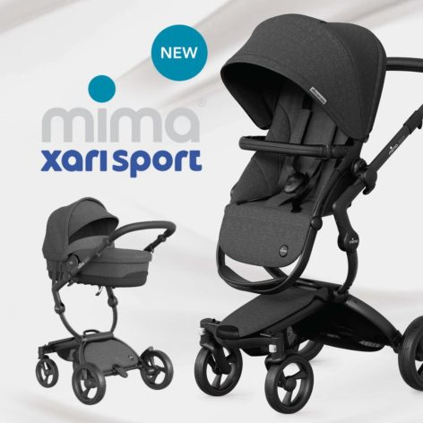 Mima Xari Sport 3 in 1 Pushchair Charcoal