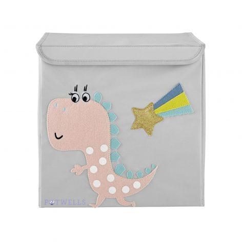 Pink Dinosaur Storage Box