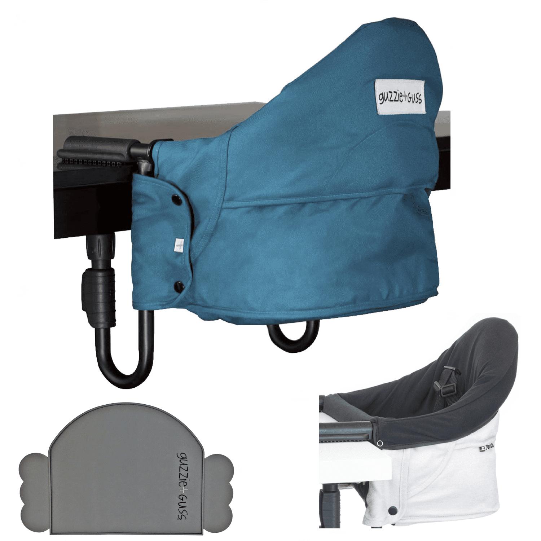 Guzzie & Guss Perch Highchair Bundle Aqua