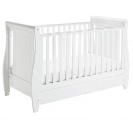 Babymore Stella Drop Side Cot Bed White