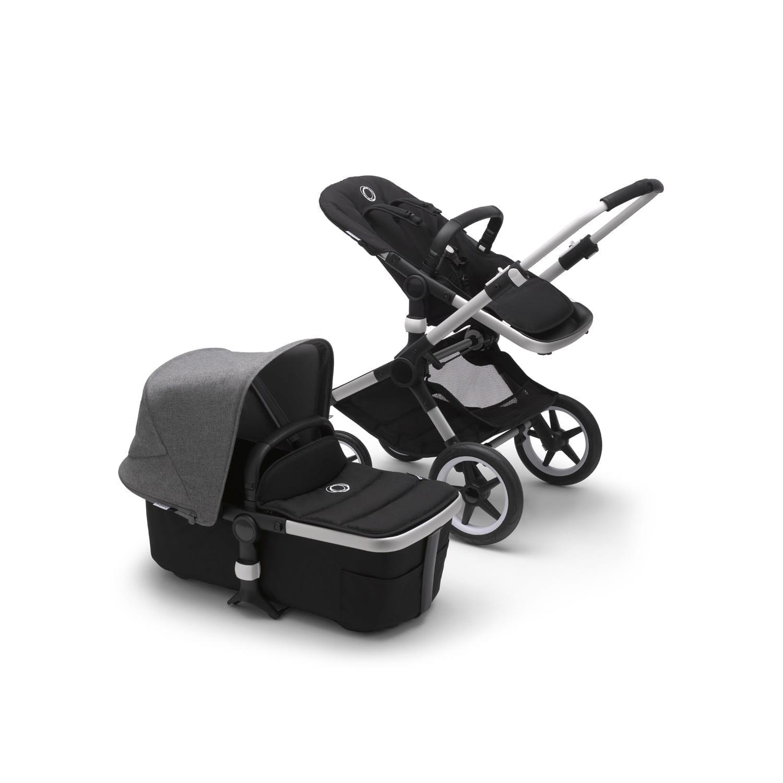 Bugaboo Fox2 Stroller ALU/BLACK/GREY MELANGE