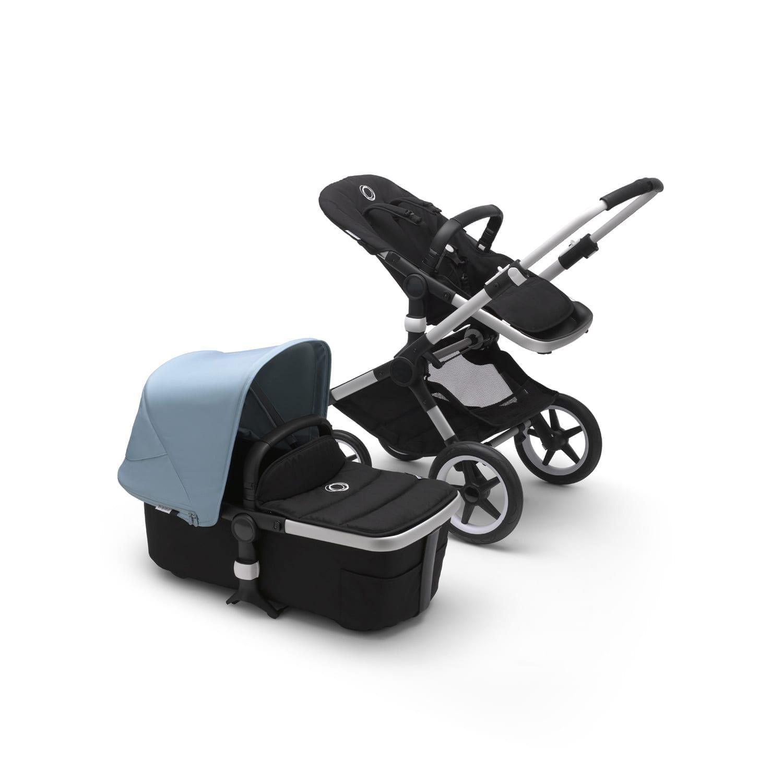 Bugaboo Fox2 Stroller ALU/BLACK/VAPOR BLUE
