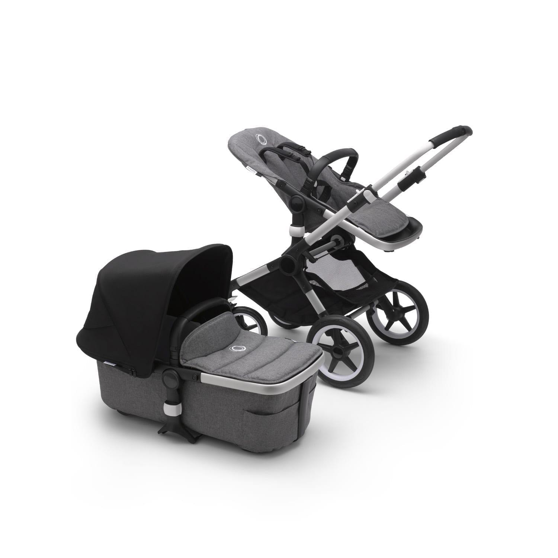 Bugaboo Fox2 Stroller ALU/GREY MELANGE/BLACK