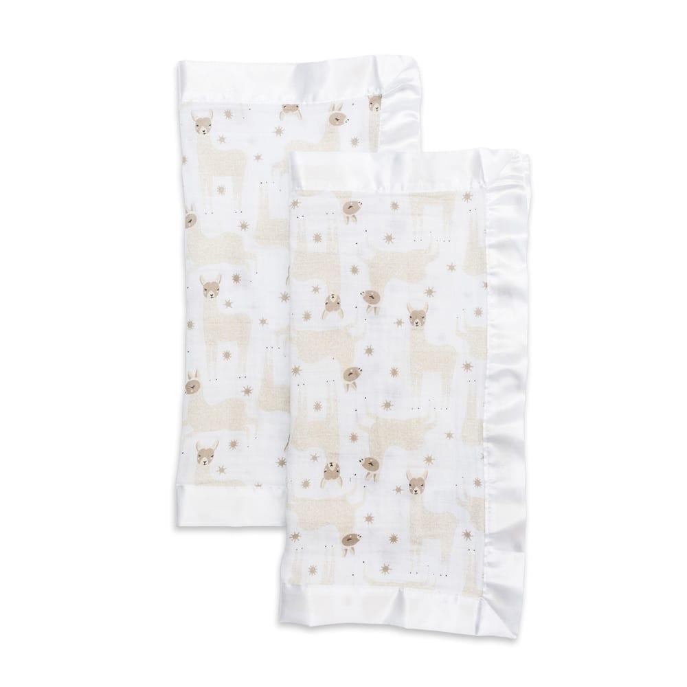 LuLuJo Muslin Security Blanket - Llama