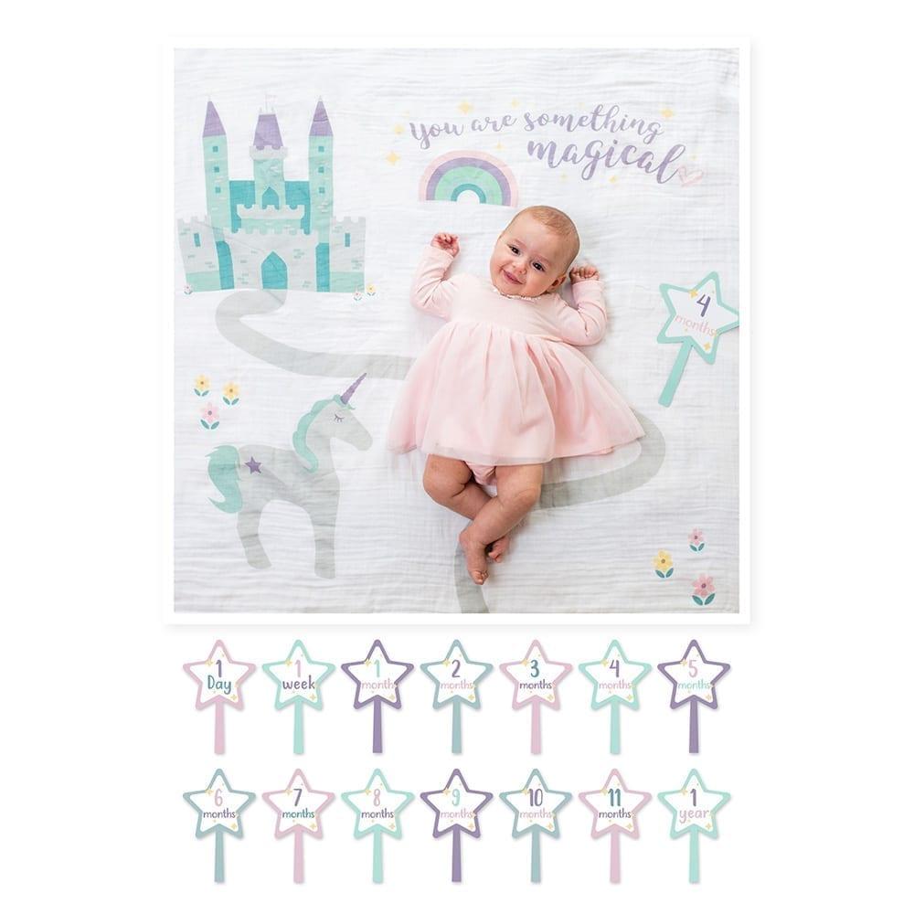LuLuJo Single Cotton Swaddle & Cards - Something Magical