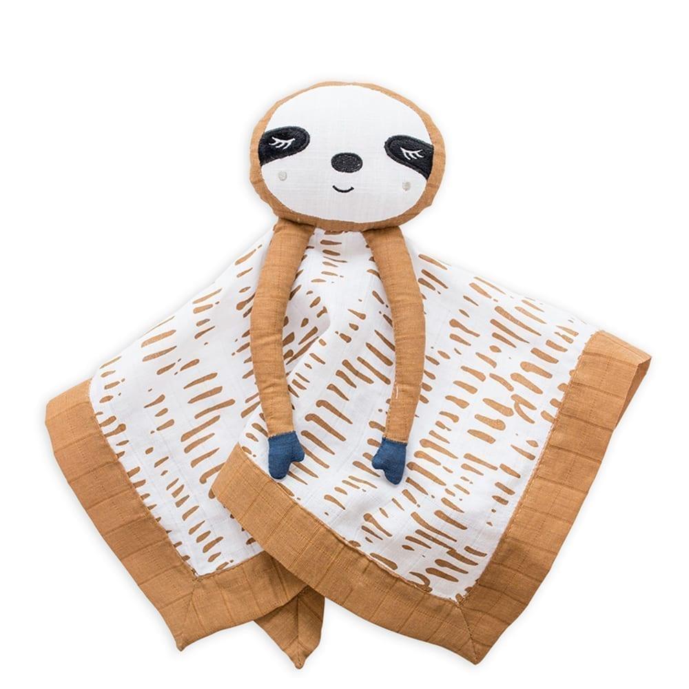 LuLuJo Cotton Muslin Lovie - Sloth