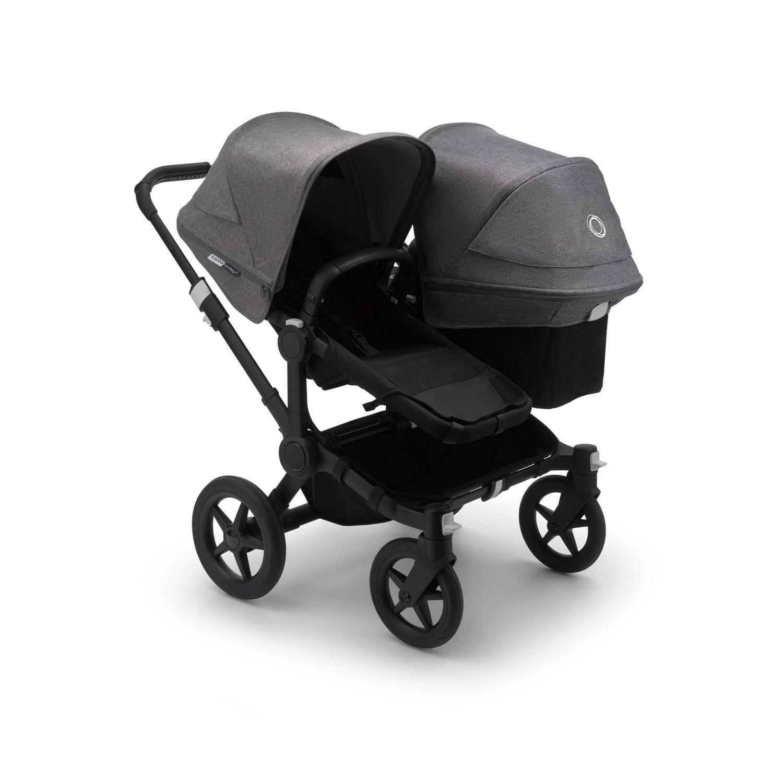Bugaboo Donkey3 Duo Stroller BLACK/BLACK/GREY MELANGE