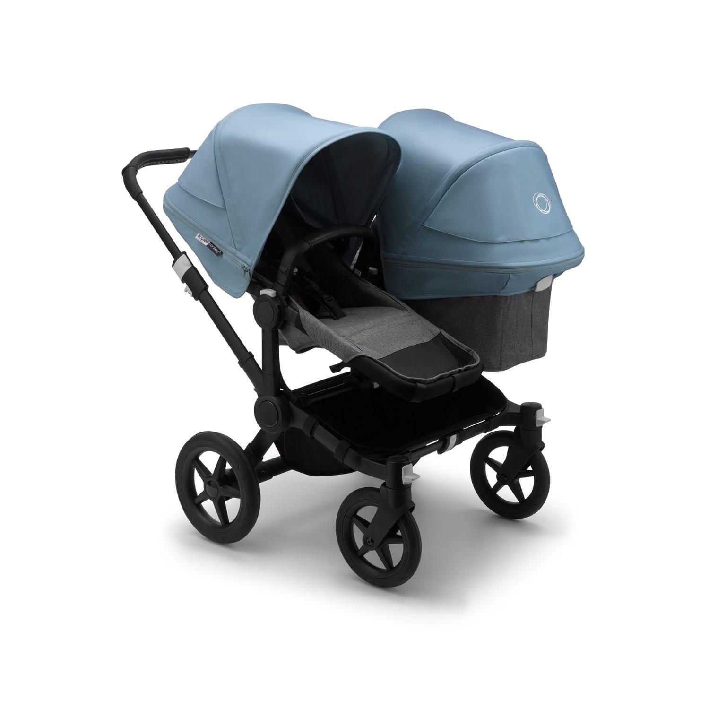 Bugaboo Duo Stroller BLACK/GREY MELANGE/VAPOR BLUE