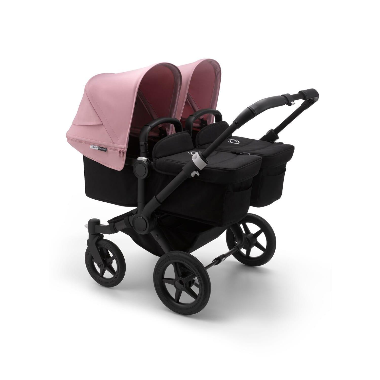 Bugaboo Donkey3 Twin Stroller BLACK/BLACK/SOFT PINK
