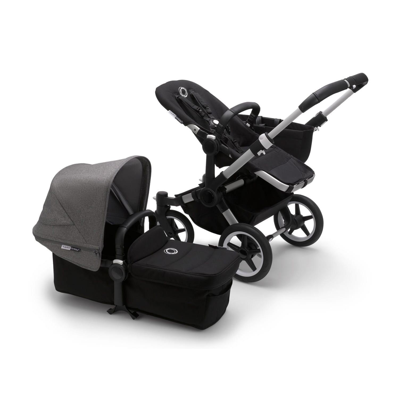 Bugaboo Donkey3 Mono Stroller ALU/BLACK/GREY MELANGE