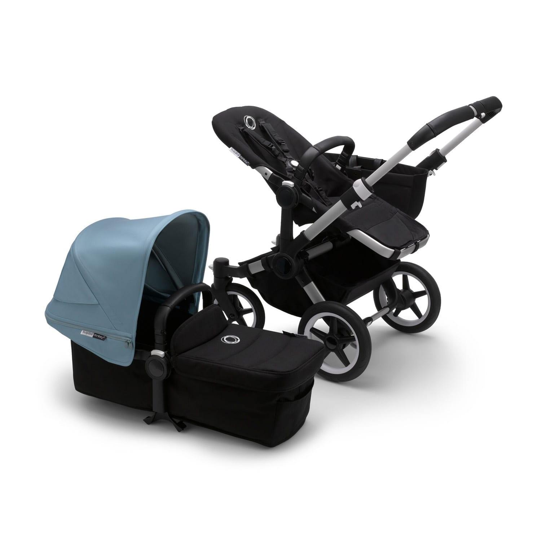Bugaboo Donkey3 Mono Stroller ALU/BLACK/VAPOR BLUE