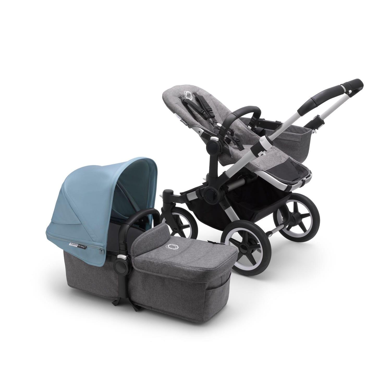 Bugaboo Donkey3 Mono Stroller ALU/GREY MELANGE/VAPOR BLUE