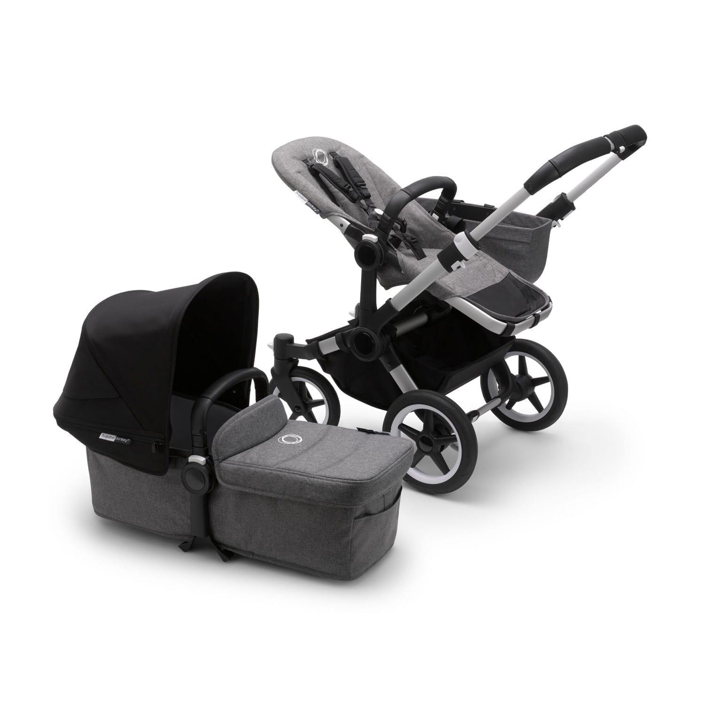 Bugaboo Donkey3 Mono Stroller ALU/GREY MELANGE/BLACK