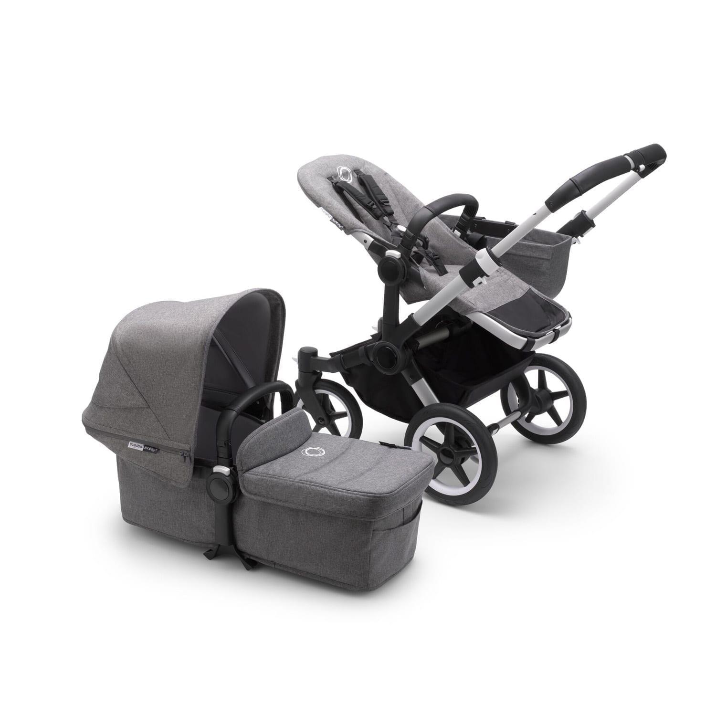 Bugaboo Donkey3 Mono Stroller ALU/GREY MELANGE/GREY MELANGE