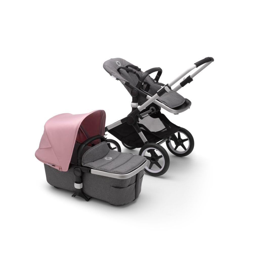 Bugaboo Fox2 Stroller ALU/GREY MELANGE/SOFT PINK