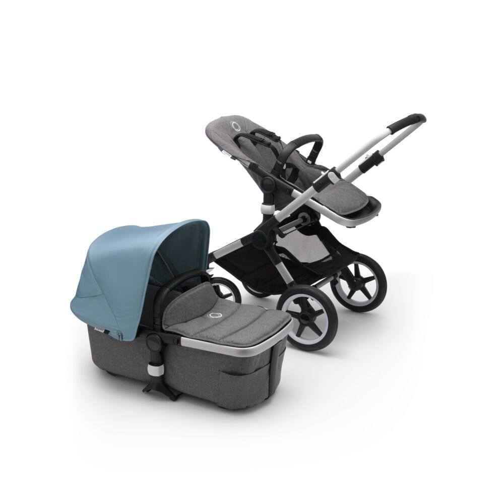 Bugaboo Fox2 Stroller ALU/GREY MELANGE/VAPOR BLUE